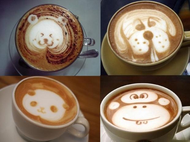 cute-coffee-draw-with-milk-monkey-dog-bear-desenho-leite-em-cima-do-cafe-macaco-panda-urso-cachorro-1024x760